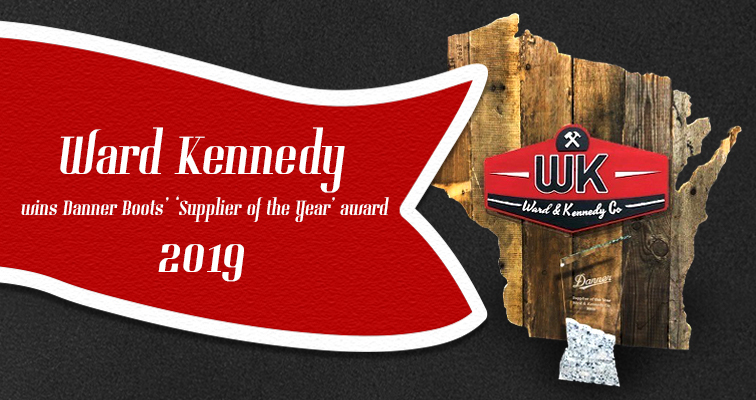 Danner Boots awarded Ward & Kennedy their distributor of the year award