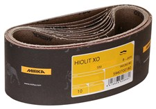 "10//pkg. Mirka AB-4-24-100T 4/""x24/"" Abranet Portable Belt 100 Grit, Tape Joint"