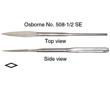 "C.S. Osborne 5"" Spring Eye Straight Pack Needle 7 Gauge with Cutter #508-1/2 SE 5"